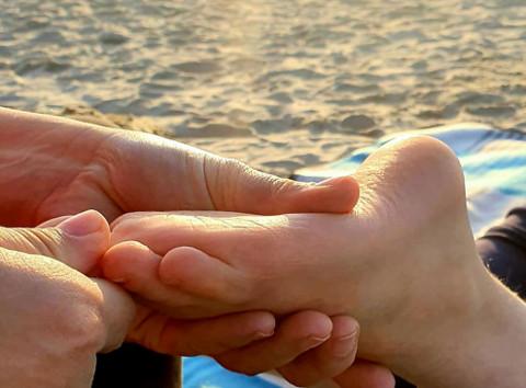 Fußpflege im Schönheitsatelier